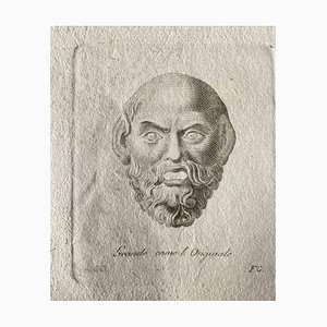 Various Old Masters, Roman Head, Original Etching, 1750s
