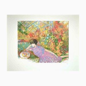 Giuseppe Giorgi, Summer Rest Pink, Original Radierung, 1980er
