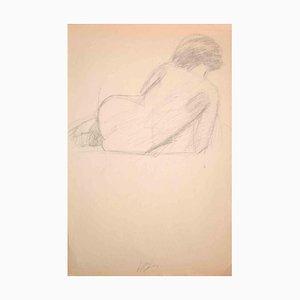 Dimitri Godicky Cwirko, Woman from Behind, Dibujo a lápiz original, años 70