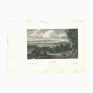 Unbekannt, Antike Ansicht von New York, Original Lithographie, 1850