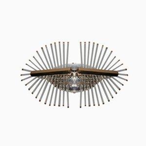 Lámpara de techo minimalista de Gaetano Sciolari, 1970