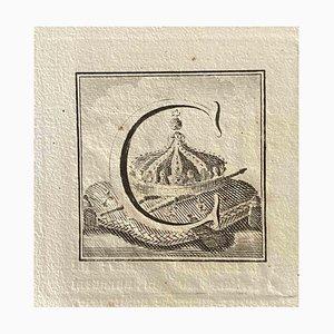 Verschiedene Alte Meister, Großbuchstabe, Original Radierung, 1750er