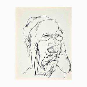 Raoul Dufy, Autorretrato, Litografía original, 1922