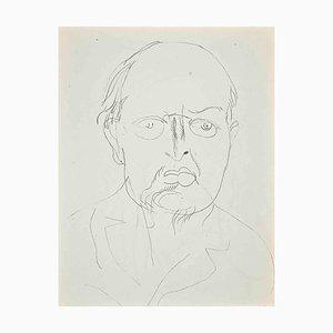 Raoul Dufy, estudio para autorretrato, litografía original, años 20