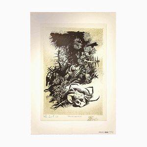 Leo Guida, Fondale Marino, Impresión original, 1965