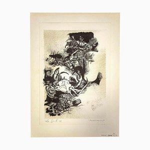 Leo Guida, Fondale Marino, Originaldruck, 1965