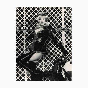 Desconocido, retrato vintage de Monica Vitti, fotografía vintage en blanco y negro, años 60