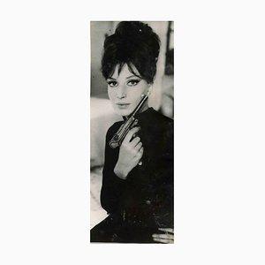 Unbekannt, Vintage Portrait von Monica Vitti, Vintage Schwarz-Weiß-Foto, 1960er