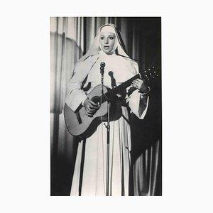 Desconocido, retrato vintage de Monica Vitti, fotografía vintage en blanco y negro, años 70