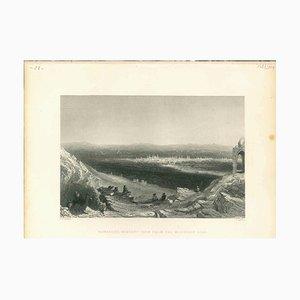 Desconocida, Vista antigua de Damasco, Litografía original, década de 1830