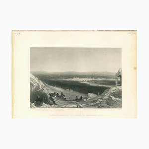 Unknown, Ancient View of Damascus, Original Lithograph, 1830s