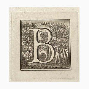 Unbekannt. Großbuchstabe für Antiken von Herculaneum ausgesetzt, Ende des 18. Jahrhunderts