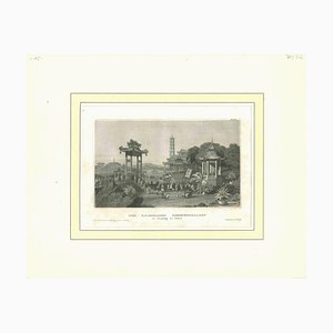 Desconocido, Der Kaiserliche Sommerpalast, Litografía original, principios del siglo XIX