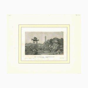 Unbekannt, Der Kaiserliche Sommerpalast, Original Lithographie, Frühes 19. Jh