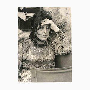 Inconnu, Portrait d'Anna Magnani, Photographie Vintage en Noir & Blanc, 1950s