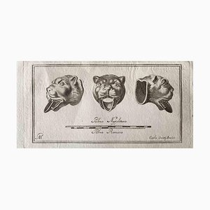 Various Old Masters, Animal Figures, Original Etching, 1750s