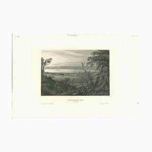 Unbekannt, Antike Ansicht von Rock Island City, Original Lithographie, 1850er
