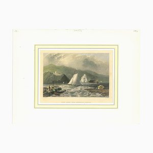 Unknown, Ancient View of Caldwell's Landing, Original Lithograph, 1850s