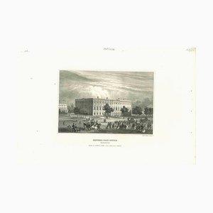 Desconocida, Vista antigua de la oficina general de correos, Litografía original, década de 1850