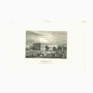 Unknown, Ancient View of General Post Office, Original Lithograph, 1850s