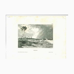 Unknown, Ancient View of Madras, Original Lithograph, Early 19th-Century