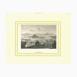 Desconocida, Ancient View of San Francisco, Litografía original, década de 1850