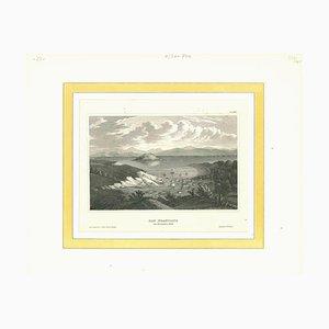 Desconocido, Vista antigua de San Francisco en noviembre de 1848, Litografía original, década de 1850