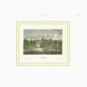 Desconocida, Ancient View of Sacramento, Litografía original, década de 1850