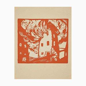 Unbekannt, Komposition, Original Holzschnitt, 1925