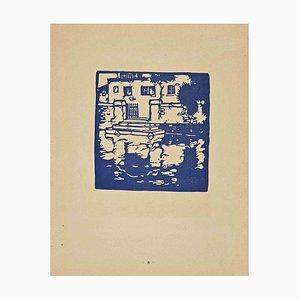 Unknown, The Mirror, Original Woodcut, 1926