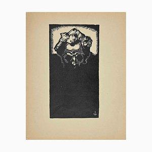 Unknown, The Head, Original Woodcut, 1925