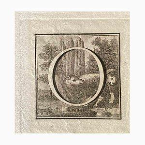 Unbekannt, Großbuchstabe für Antiken von Herculaneum ausgestellt, Ende 18. Jh