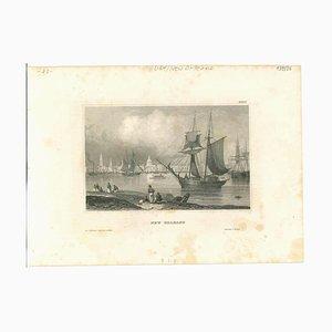 Unbekannt, Antike Ansicht von New Orleans, Original Lithographie, 1850er