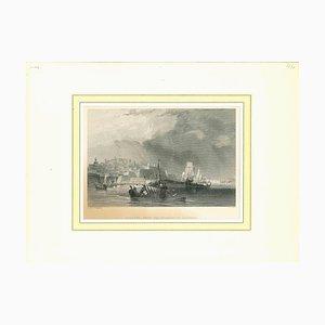 Unbekannt, Valletta from the Quarantine Harbour, Original Lithographie, Frühes 19. Jh