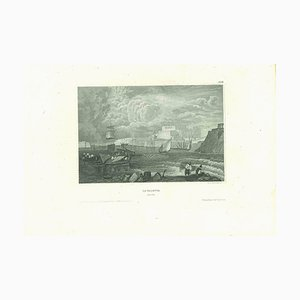 Unknown, Ancient View of La Valletta, Original Lithograph, Early-19th-Century