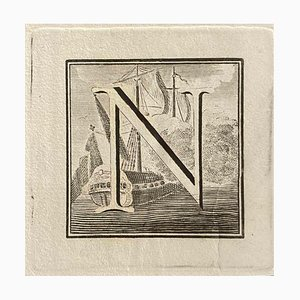 Unknown, Capital Letter for Antiquities of Herculaneum Exposed, End of the 18th Century