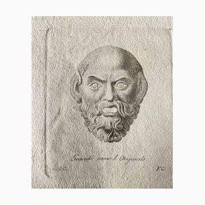 Various Artists, Roman Head, Original Etching, 1750s