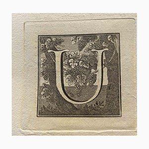 Unbekannt, Großbuchstabe für Antiken von Herculaneum freigelegt, Ende 18. Jh