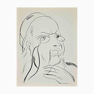 Raoul Dufy, Study for Self-Portrait, Original Lithographie, 1920er