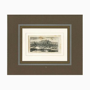Unknown, Ancient View of Prague, Original Lithograph, 18th-Century