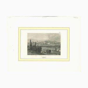 Desconocido, Vista antigua de Olmutz, Litografía original, siglo XIX