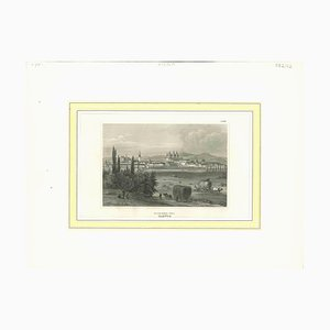 Unknown, Ancient View of Olmutz, Original Lithograph, 19th-Century
