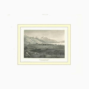 Unknown, Ancient View of Salt Lake City, Original Lithograph, Early 19th-Century