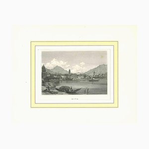 Unknown, Ancient View of Riva, Original Lithograph, Early 19th-Century