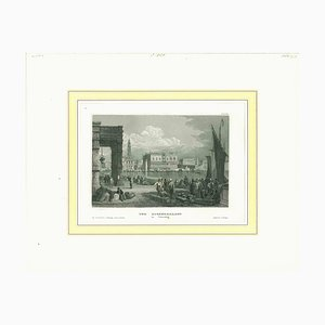 Unknown, Ancient View of the Doge Palace Venice, Original Lithograph, 19th-Century