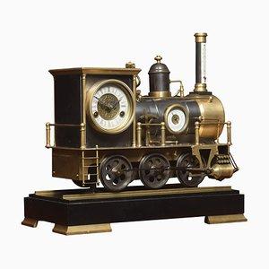 Reloj de locomotora de finales del siglo XIX