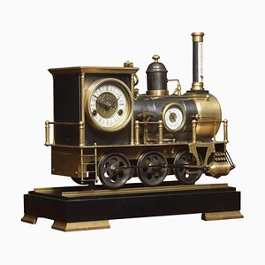Spätes 19. Jahrhundert Lokomotive Uhr