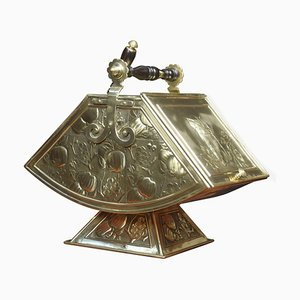 Arts and Crafts Brass Embossed Coal Scuttle