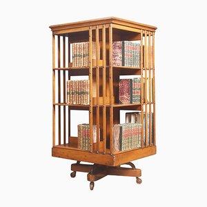 Drehbares Walnuss Bücherregal von Maple and Co