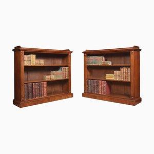 Offene Mahagoni Bücherregale, 2er Set